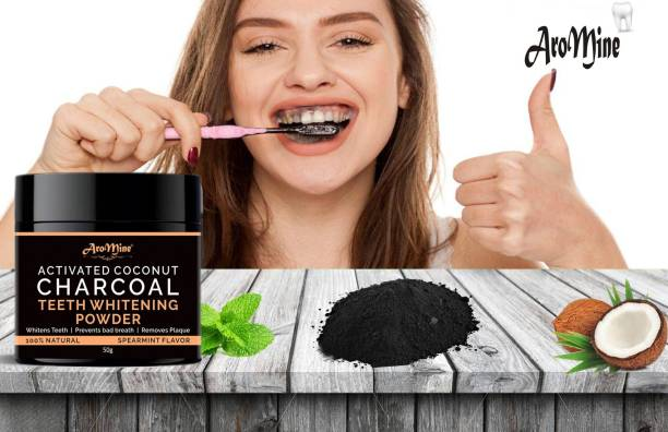 AroMine Natural & Organic Activated Charcoal Teeth Whitening Powder