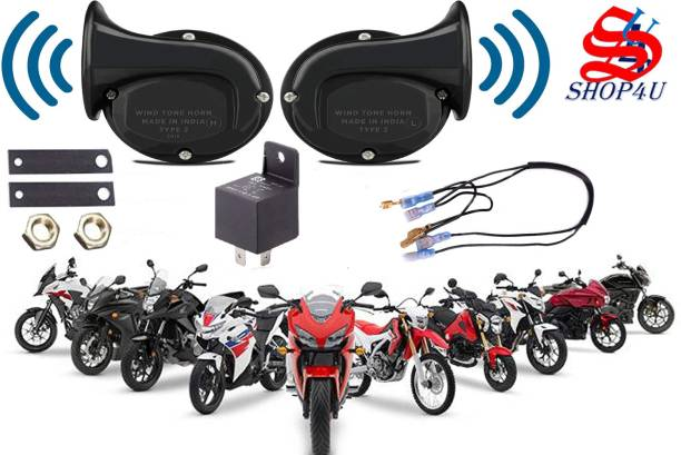 SHOP4U Horn For Universal For Bike Universal For Bike