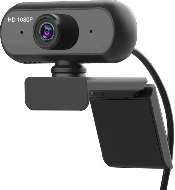 V.T.I Full HD 1080p WebCam with Built-in Microphone for Online Classes/Video Chat/Meetings/Live Feed  Webcam
