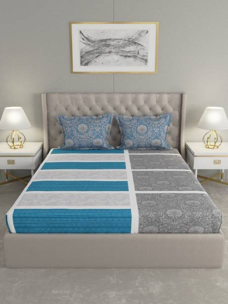 Raymond Home 144 TC Cotton Double Motifs Bedsheet