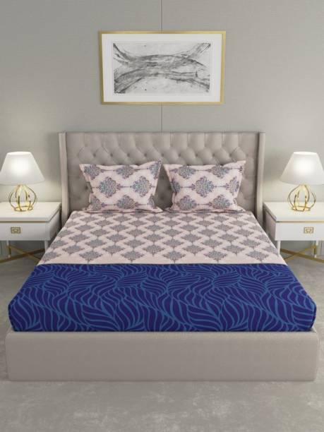 Raymond Home 104 TC Cotton King Motifs Bedsheet