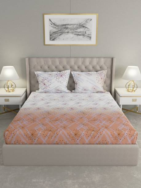 Raymond Home 200 TC Cotton Double Abstract Bedsheet