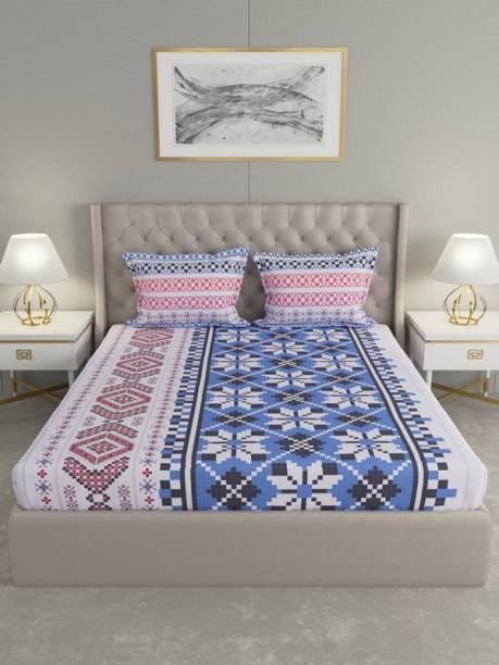 Raymond Home 144 TC Cotton Double Motifs Bedsheet