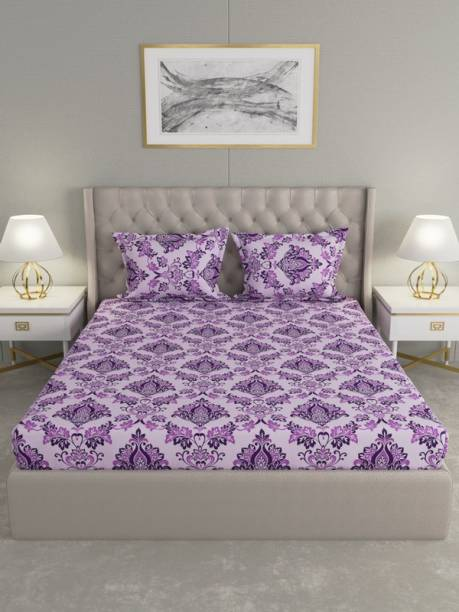 Raymond Home 104 TC Cotton Double Motifs Bedsheet
