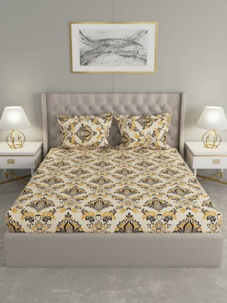Raymond Home 104 TC Cotton Double Motifs Bedsheet