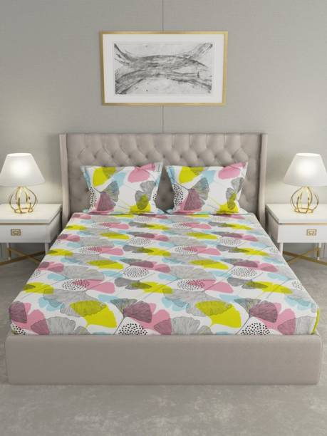 Raymond Home 120 TC Cotton Double Floral Bedsheet
