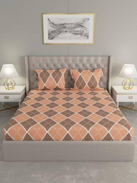 Raymond Home 0 TC Microfiber Double Geometric Bedsheet