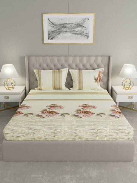Raymond Home 200 TC Cotton Double Floral Bedsheet