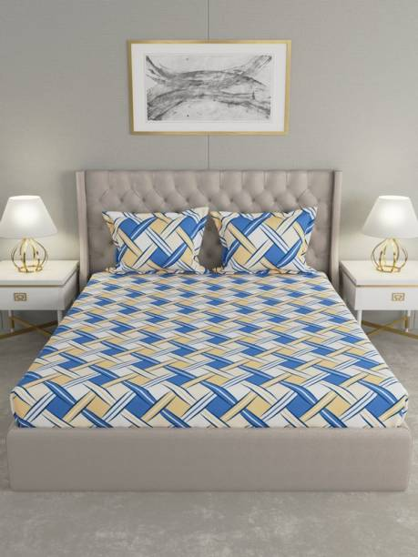 Raymond Home 120 TC Cotton Double Geometric Bedsheet