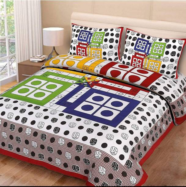 MOHIT TEX 300 TC Cotton Double King Printed Bedsheet