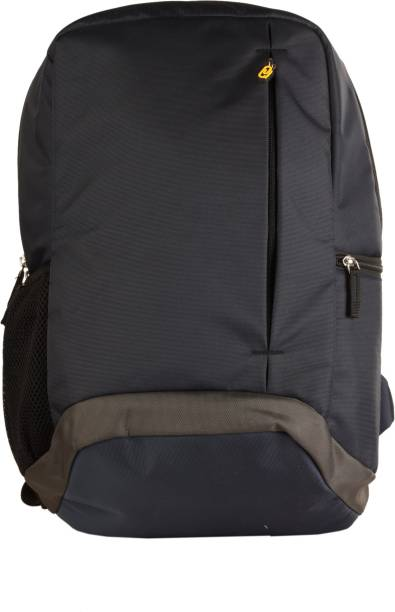 QIPS H.M.INTERNATIONAL HIGH QUALITY SOLID COLOUR BACKPACK - HMHMBP 1239-QIP (BLUE & GRAY) 24 L Laptop Backpack