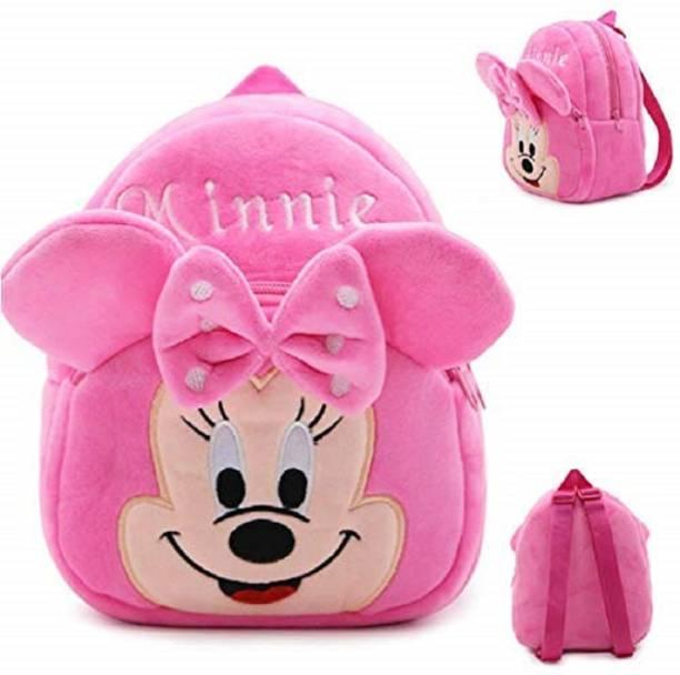 KAIN Minnie Kids School Bags 10L Baby/Boys/Girls (2 To 5 Year/Yellow) Plush Bag