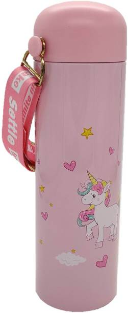 CherryBox Unicorn Print Stainless Steel Flask Bottle with Strap 280 ml Flask 1 Pcs 280 ml Flask