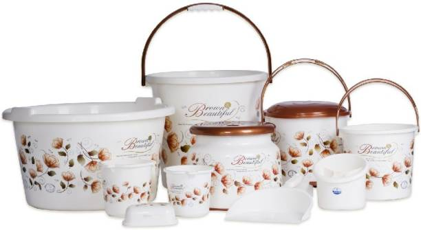 JOYO Beautifull Brown 25 L Plastic Bucket