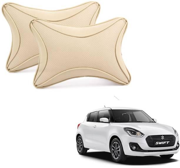 ABP Beige Leatherite Car Pillow Cushion for Maruti Suzuki