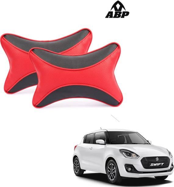 ABP Black, Red Leatherite Car Pillow Cushion for Maruti Suzuki
