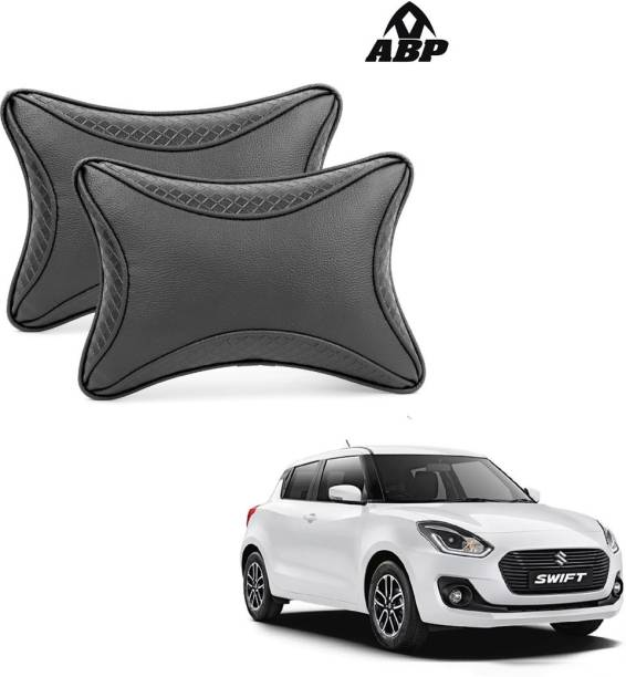 ABP Black Leatherite Car Pillow Cushion for Maruti Suzuki