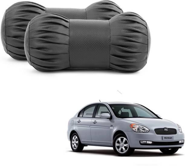 ABP Black Leatherite Car Pillow Cushion for Hyundai