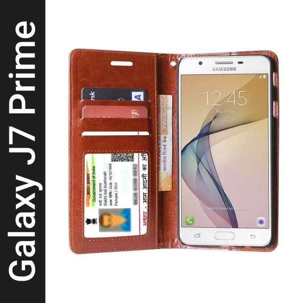 Unistuff Flip Cover for Samsung Galaxy J7 Prime
