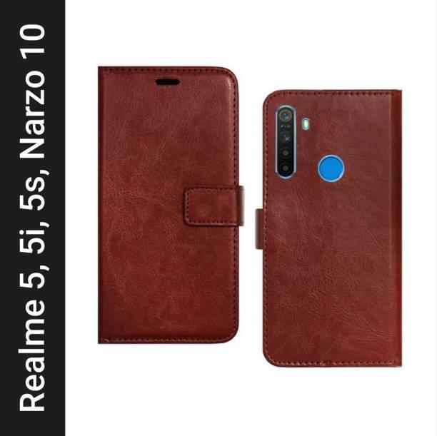 Spicesun Flip Cover for Realme Narzo 10, Realme 5, Realme 5i, Realme 5s