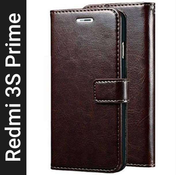 Krofty Flip Cover for Mi Redmi 3S Prime