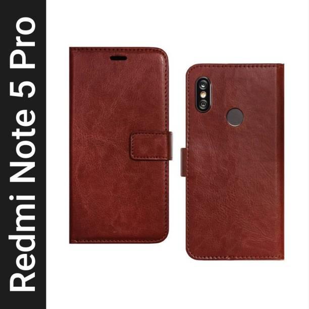 Spicesun Flip Cover for Mi Redmi Note 5 Pro