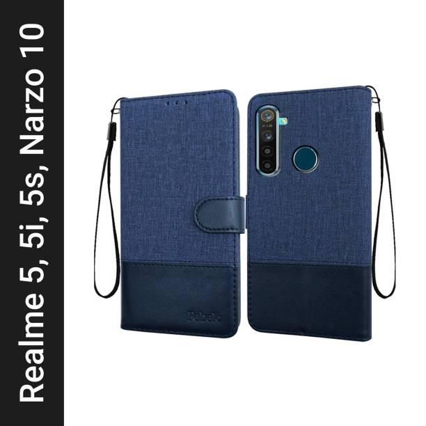 Febelo Flip Cover for Realme Narzo 10, Realme 5, Realme 5s, Realme 5i