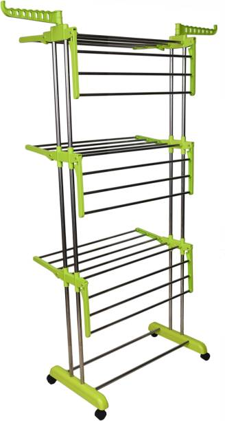 LivingBasics Steel Floor Cloth Dryer Stand LP_0001