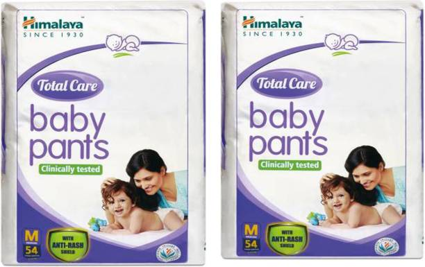 HIMALAYA Extra Absorb Baby Diaper M-54- Pack Of 2- (108 Pieces) - M