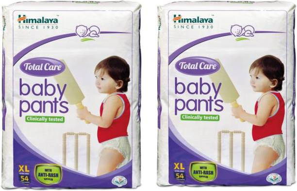 HIMALAYA Extra Absorb Baby Diapers XL-54- Pack Of 2- XL (108 Pieces) - XL