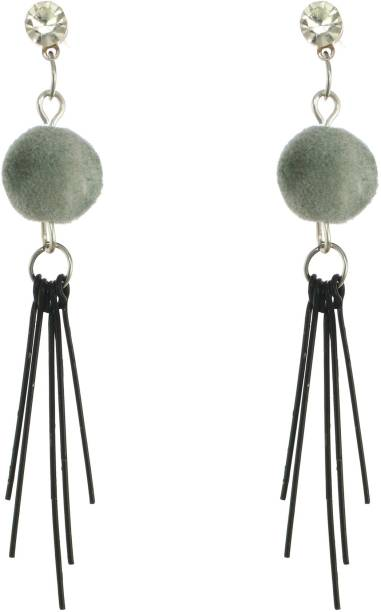 One Personal Care Wind Chime Inspired, Velvet Bauble, Diamond Studded, Lightweight, Casual/Event Wear Crystal Alloy, Acrylic, Plastic Drops & Danglers