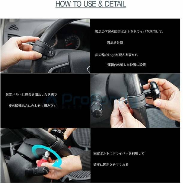 Cloudsale ABS plastic,Leather Car Steering Knob
