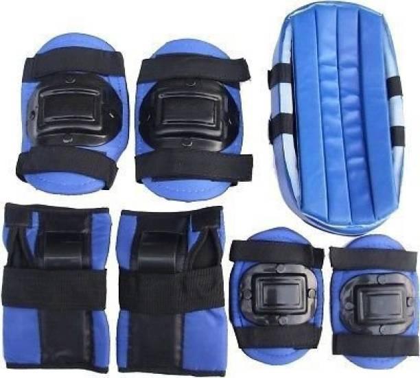 Rakso Skating & Cycling Protective set - Blue Color (Set of 4pcs) Skating Guard Combo