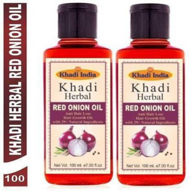 Khadi Herbal Herbal Red Onion Oil For Hair Growth Anti Hair Fall (Pack Of-2) Hair Oil