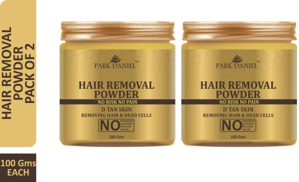 Park Daniel Premium Hair Removal Powder- For Easy Hair Removal with No Rics & No Pain Combo pack of 2 Jars of 100 gms(200 gms) Wax