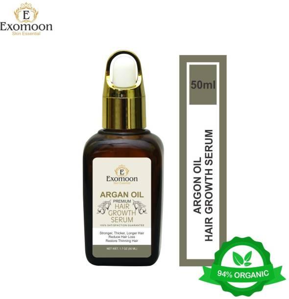 EXOMOON ARGAN OIL PREMIUM HAIR GROWTH SERUM FOR STRONGER , LONGER AND THICKER HAIR