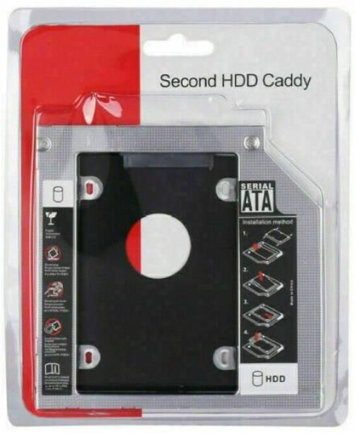 Brandvilla 9.5mm Universal 2nd Hard Drive Bay Caddy For CD/DVD-ROM, Laptop 2.5 inch Internal Hard Drive Enclosure/HDD Caddy