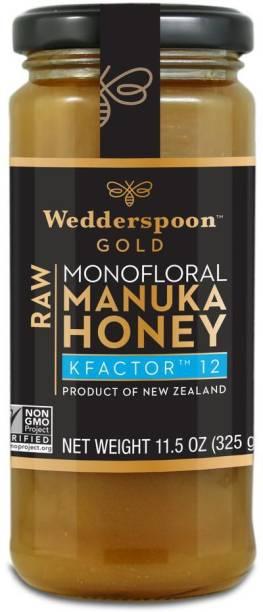 Wedderspoon Gold Monofloral Raw Manuka Honey KFactor 12 -11.5 oz