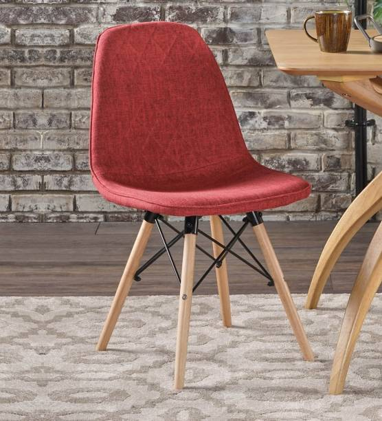 Finch Fox Callay Mid Century Eiffel Iconic Chair in Red Colour Fabric Living Room Chair
