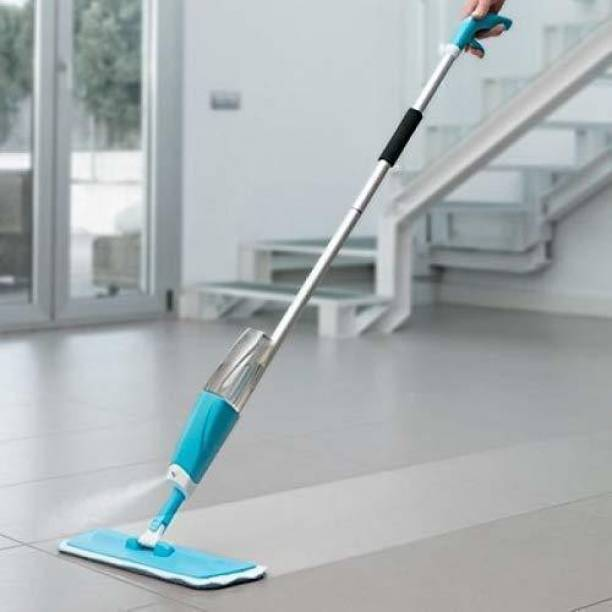 SHOPPOFOBIX Microfiber Steel Floor Cleaning Exclusive Design Spray Mop With Integrated Bottle all Surface Floor Tile Cleaner Wet & Dry Mop with Dust Cleaning Brush for Window Frame, Sliding Window Track, Laptop Keyboard, Car Air Vents with Dust Pan Plastic Dry Brush Plastic Wet and Dry Brush Plastic Wet and Dry Brush (Black, White) Mop, Cleaning Brush Wet & Dry Mop