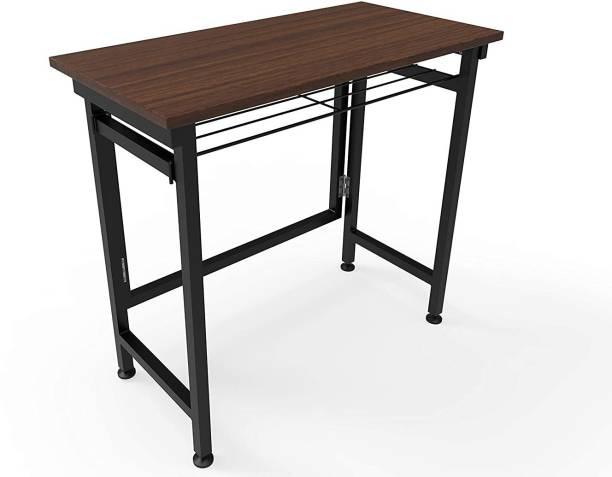 InnoFur Folding Study/ Laptop Table Brown Engineered Wood Office Table