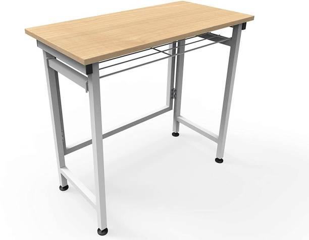 InnoFur Folding Desk/Folding Table/Study Table/Laptop Table Engineered Wood Office Table