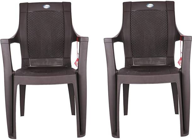 national plastic NPPL Durable Plastic Chair for Home (Pack of 2) Plastic Outdoor Chair