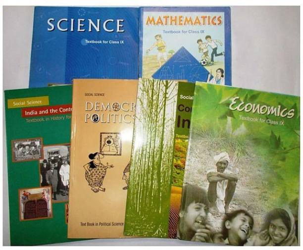 NCERT BOOK FOR ECONOMICS, HISTORY, GEOGRAPHY, POLITICS ,MATHMETICS, SCIENCE CLASS 9th (IX) IN COMBO PACK