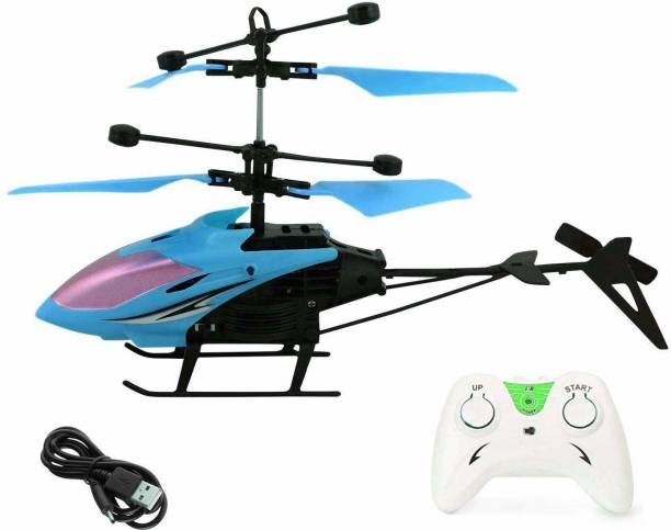 Joyfull Exceed Induction Flight Electronic Radio RC Remote Control Toy Charging Helicopter Toys with 3D Light Toys for Boys Kids (Indoor Flying) Colors as per Available ( Small Size )