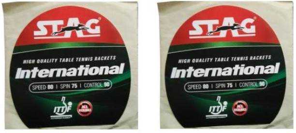 STAG International (80 Speed, 75 Spin, 90 Control ) Pack of 2 1.8 mm Table Tennis Rubber