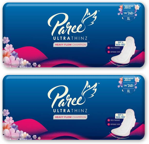 Paree Ultra Thinz 30 XL Soft Feel Sanitary Pads with Frangrance (Tri-Fold)  Sanitary Pad
