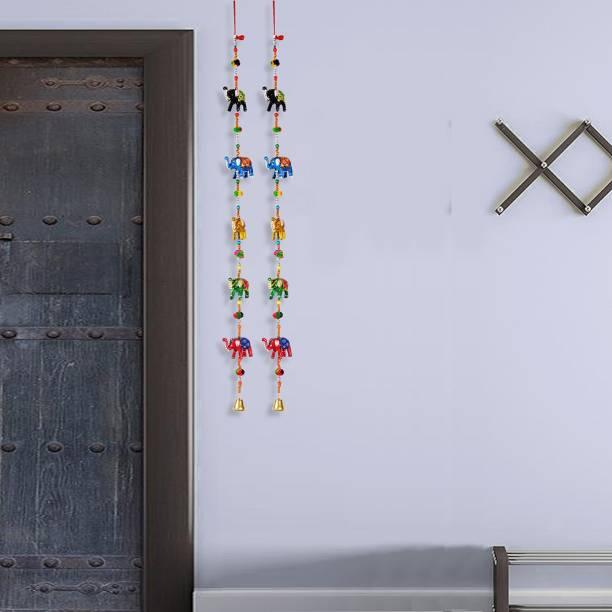 DreamKraft Rajasthani Elephant Door Hanging Toran For Home Decor Toran