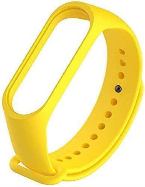 Ceol Soft Silicon Replacement Brand Strap For Mi Band 3 & 4 _ Yellow Smart Band Strap