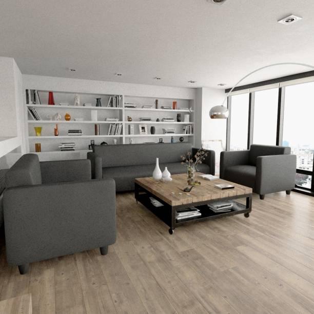 Sekar Lifestyle Box Series Leatherette 3 + 2 + 1 Grey Sofa Set